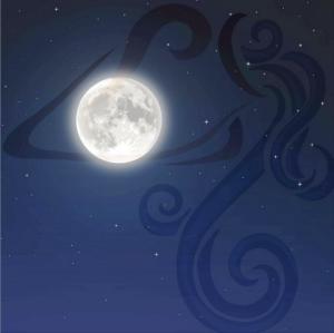 luna piena in Aquario